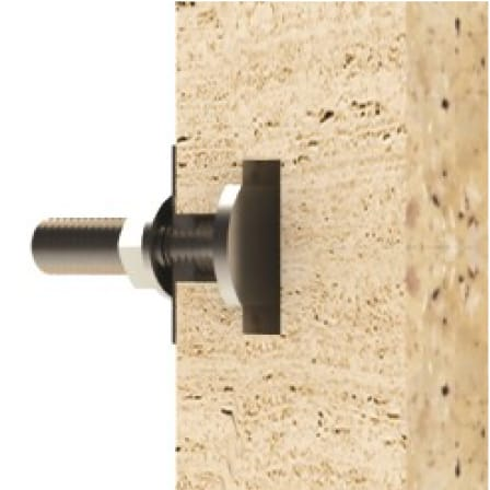 Undercut Bolts for Stone Panels