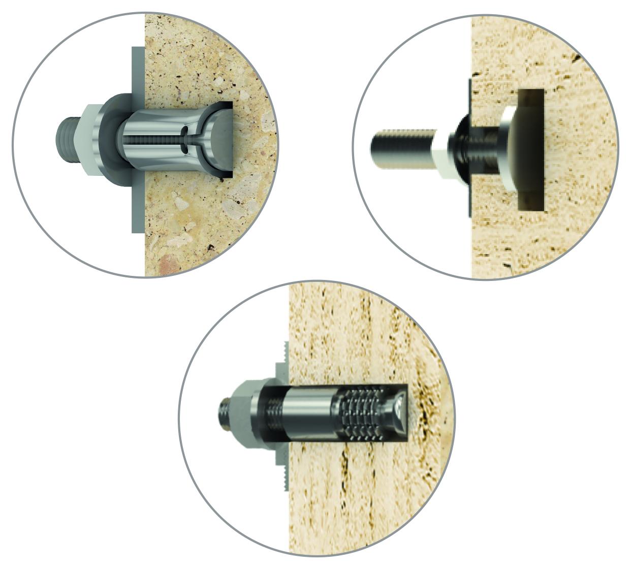 Undercut bolts